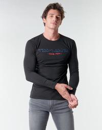 Ruhák Férfi Hosszú ujjú pólók Teddy Smith TICLASS BASIC M Fekete