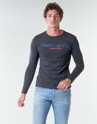 Ruhák Férfi Hosszú ujjú pólók Teddy Smith TICLASS BASIC M Tengerész