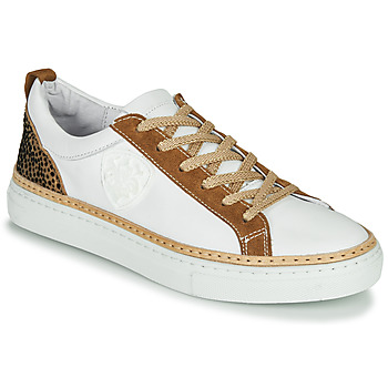 Cipők Női Rövid szárú edzőcipők Philippe Morvan CORK V1 NAPPA BLANC Fehér / Teve