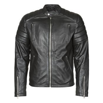 Ruhák Férfi Bőrkabátok / műbőr kabátok Schott LC FUEL Fekete