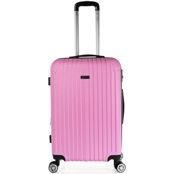 Táskák Keményfedeles bőröndök Itaca Sevron között Rózsaszín