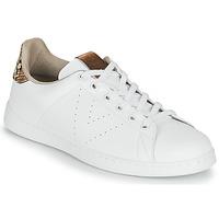 Cipők Női Rövid szárú edzőcipők Victoria TENIS PIEL VEG Fehér / Barna