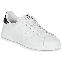 Cipők Női Rövid szárú edzőcipők Victoria TENIS PIEL Fehér / Bordó