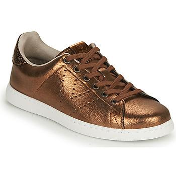 Cipők Női Rövid szárú edzőcipők Victoria TENIS METALIZADO Bronz
