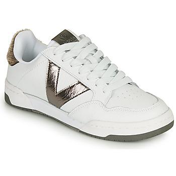Cipők Női Rövid szárú edzőcipők Victoria CRONO PIEL Fehér / Bronz