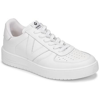 Cipők Női Rövid szárú edzőcipők Victoria SIEMPRE PIEL Fehér