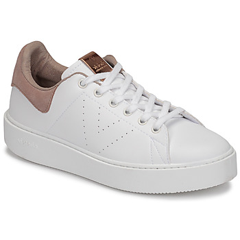 Cipők Női Rövid szárú edzőcipők Victoria UTOPÍA PIEL VEG Fehér / Rózsaszín