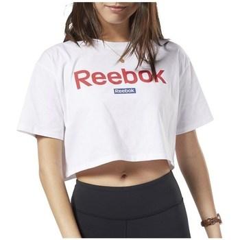 Ruhák Női Rövid ujjú pólók Reebok Sport Linear Logo Crop Tee Fehér