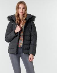 Ruhák Női Parka kabátok Naf Naf BU-CHOUPINOU COURT Fekete