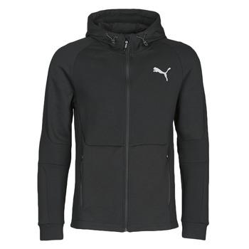 Ruhák Férfi Melegítő kabátok Puma EVOSTRIPE FZ HOODY Fekete