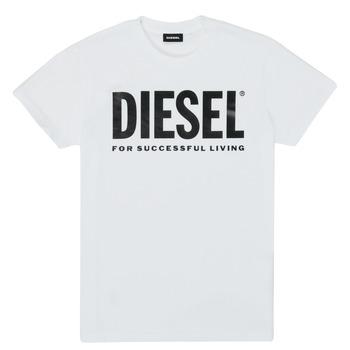 Ruhák Gyerek Rövid ujjú pólók Diesel TJUSTLOGO Fehér