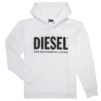 Ruhák Fiú Pulóverek Diesel SDIVISION LOGO Fehér