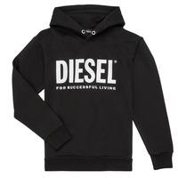 Ruhák Fiú Pulóverek Diesel SDIVISION LOGO Fekete