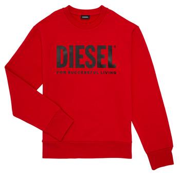 Ruhák Fiú Pulóverek Diesel SCREWDIVISION LOGO Piros
