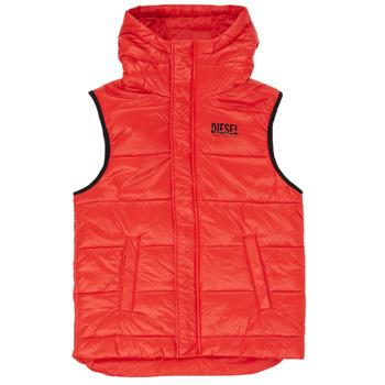 Ruhák Fiú Steppelt kabátok Diesel JSUNNY Piros