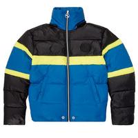 Ruhák Fiú Steppelt kabátok Diesel JMARTOS Fekete  / Kék / Citromsárga