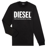 Ruhák Fiú Hosszú ujjú pólók Diesel TJUSTLOGO ML Fekete