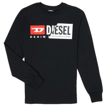Ruhák Gyerek Hosszú ujjú pólók Diesel TDIEGOCUTY Fekete