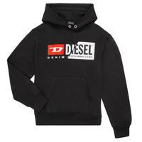 Ruhák Gyerek Pulóverek Diesel SGIRKHOODCUTY Fekete