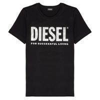 Ruhák Lány Rövid ujjú pólók Diesel TSILYWX Fekete