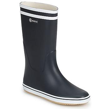 Cipők Női Gumicsizmák Aigle MALOUINE Tengerész / Fehér