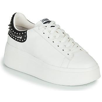 Cipők Női Rövid szárú edzőcipők Ash MOBY STUDS Fehér / Fekete