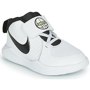 Cipők Fiú Kosárlabda Nike TEAM HUSTLE D 9 TD Fehér / Fekete