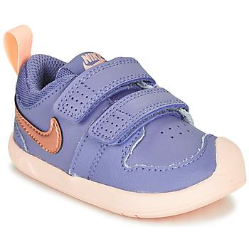Cipők Lány Rövid szárú edzőcipők Nike PICO 5 TD Lila / Rózsaszín
