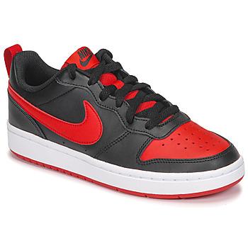 Cipők Gyerek Rövid szárú edzőcipők Nike COURT BOROUGH LOW 2 GS Fekete  / Piros
