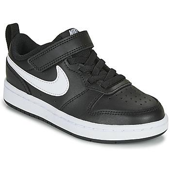 Cipők Gyerek Rövid szárú edzőcipők Nike COURT BOROUGH LOW 2 PS Fekete  / Fehér