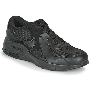 Cipők Gyerek Rövid szárú edzőcipők Nike AIR MAX EXEE PS Fekete