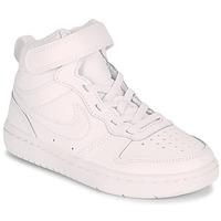 Cipők Gyerek Rövid szárú edzőcipők Nike COURT BOROUGH MID 2 PS Fehér