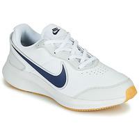 Cipők Fiú Rövid szárú edzőcipők Nike VARSITY LEATHER GS Fehér / Kék