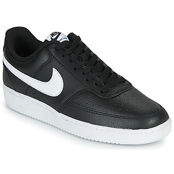 Cipők Férfi Rövid szárú edzőcipők Nike COURT VISION LOW Fekete  / Fehér