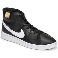 Cipők Férfi Magas szárú edzőcipők Nike COURT ROYALE 2 MID Fekete  / Fehér