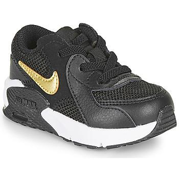 Cipők Gyerek Rövid szárú edzőcipők Nike AIR MAX EXCEE TD Fekete  / Arany