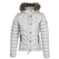 Ruhák Női Steppelt kabátok Superdry LUXE FUJI PADDED JACKET Ezüst