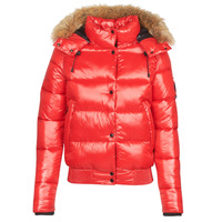 Ruhák Női Steppelt kabátok Superdry HIGH SHINE TOYA BOMBER Piros