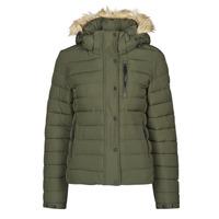 Ruhák Női Steppelt kabátok Superdry CLASSIC FAUX FUR FUJI JACKET Sötét / Moha