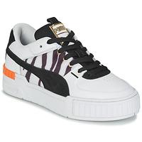 Cipők Női Rövid szárú edzőcipők Puma CALI SPORT WILD Fehér / Fekete