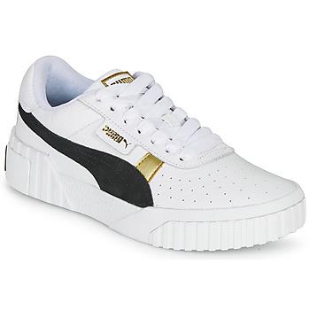 Cipők Női Rövid szárú edzőcipők Puma CALI VARSITY Fehér / Fekete