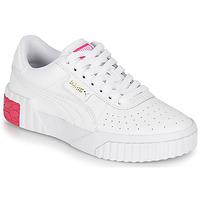 Cipők Lány Rövid szárú edzőcipők Puma CALI JR Fehér / Rózsaszín