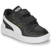 Cipők Gyerek Rövid szárú edzőcipők Puma RALPH SAMPSON LO INF Fekete  / Fehér