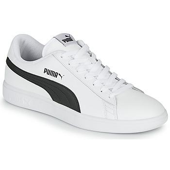 Cipők Férfi Rövid szárú edzőcipők Puma SMASH Fehér / Fekete