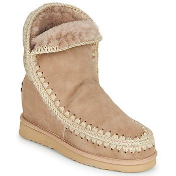 Cipők Női Csizmák Mou ESKIMO INNER WEDGE SHORT Bézs