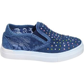 Cipők Lány Belebújós cipők Asso BM448 Kék
