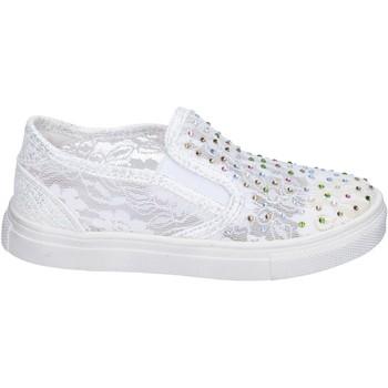 Cipők Lány Belebújós cipők Asso BM449 Fehér