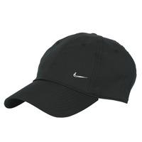 Textil kiegészítők Baseball sapkák Nike U NSW H86 METAL SWOOSH CAP Fekete  / Ezüst