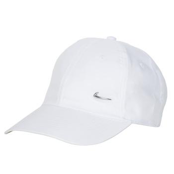 Textil kiegészítők Baseball sapkák Nike U NSW H86 METAL SWOOSH CAP Fehér / Ezüst