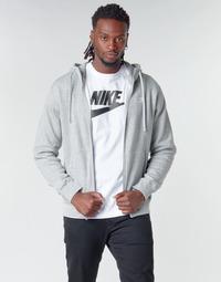 Ruhák Férfi Pulóverek Nike M NSW CLUB HOODIE FZ BB Szürke